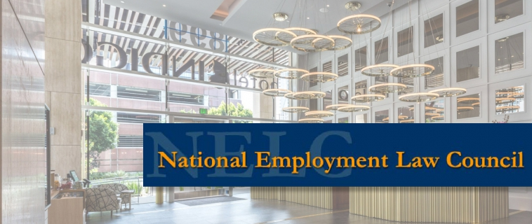 "Partner Reginald Roberts supporting the National Employment Law Council (""NELC"")"