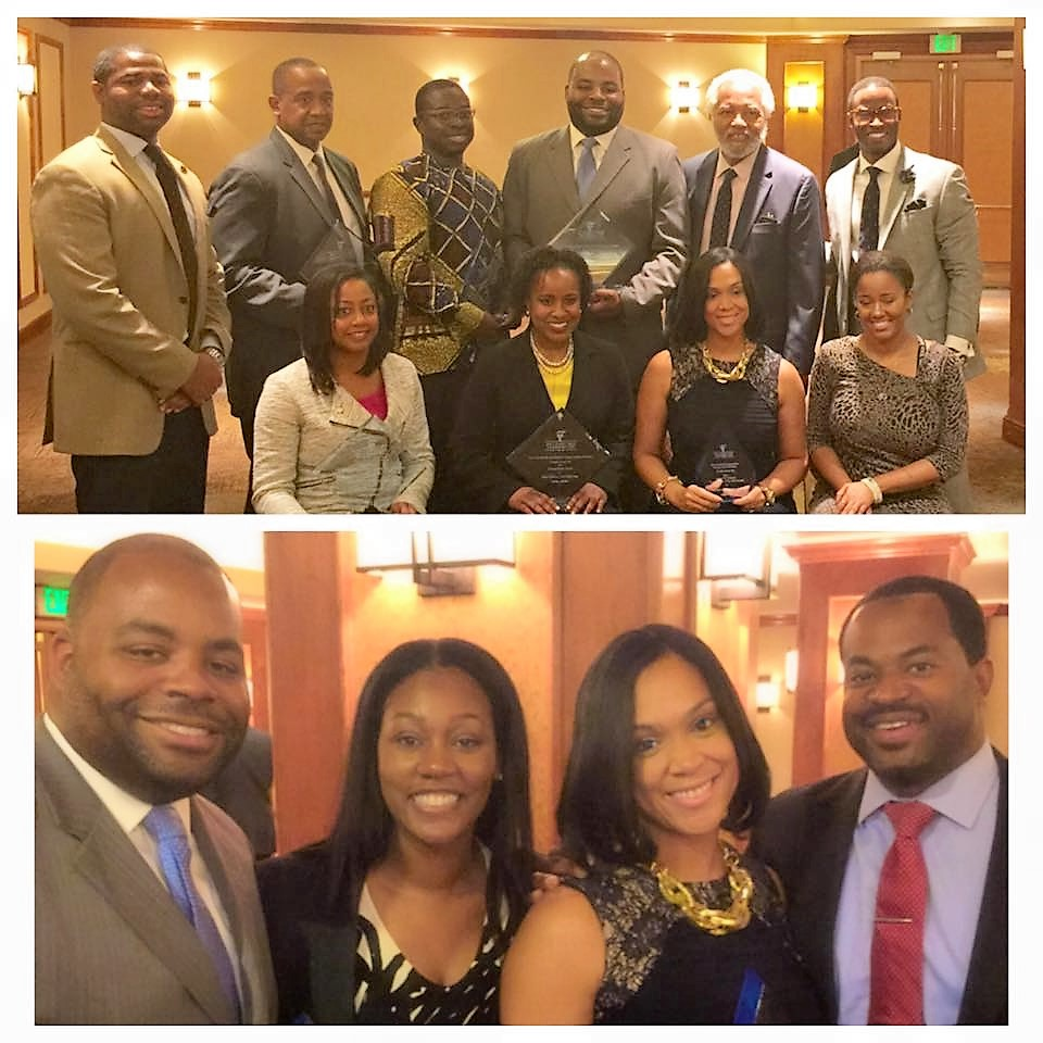 Damon Brown pictured with his wife, Mrs. Brown and attorneys who also attended the President's Reception.