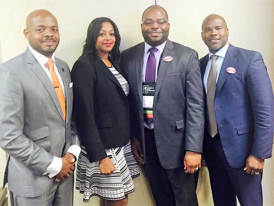 SRJ Partners, Reggie Roberts and Damon Brown pictured with fellow attorneys also attending the President's Reception.