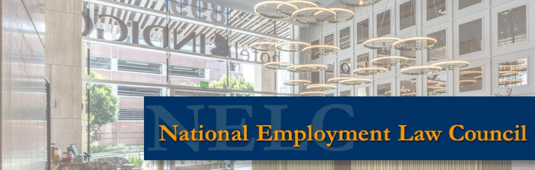 """Partner Reginald Roberts supporting the National Employment Law Council (""""NELC"""")"""